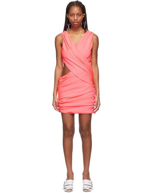 Balmain ピンク ドレープ ドレス Pink