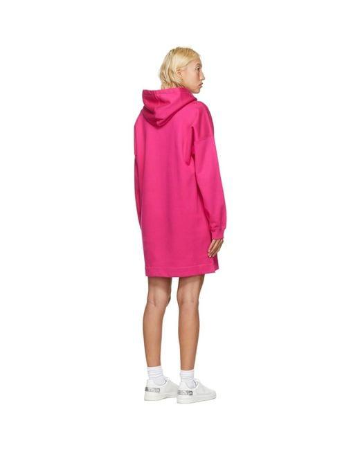 Valentino ピンク Vltn フーディ ドレス Pink