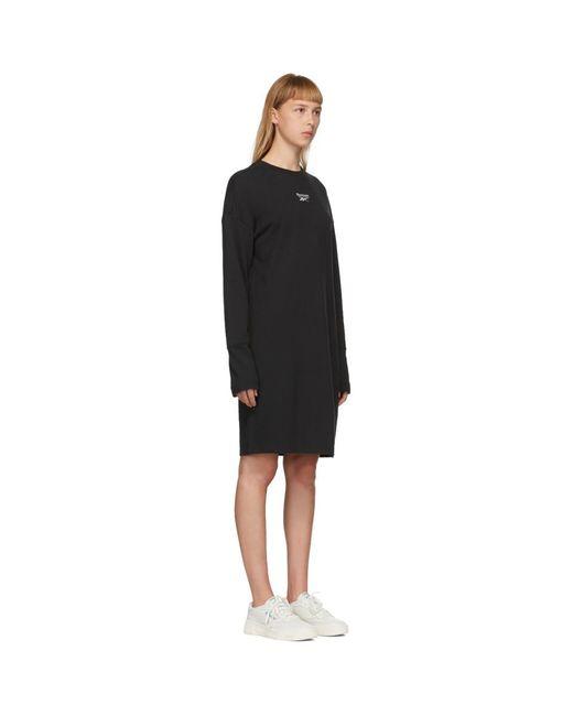 Reebok ブラック セーター ドレス Black