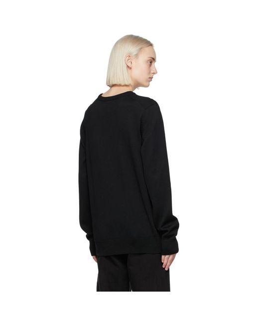 Maison Kitsuné ブラック Tricolor Fox セーター Black