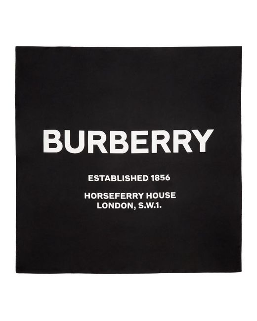 Burberry ブラック Horseferry Branded Scarf Black