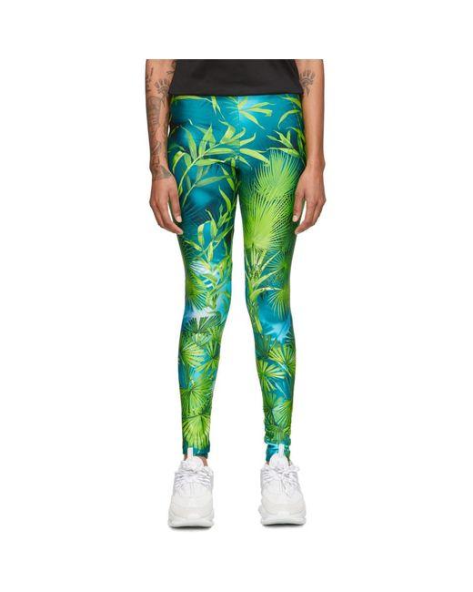 Versace グリーン ジャングル レギンス Green