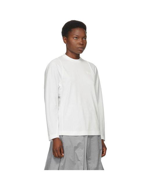 Y-3 ホワイト クラシック テーラード ロング スリーブ T シャツ White