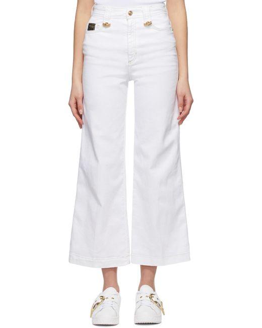 Versace Jeans ホワイト フレア ジーンズ White