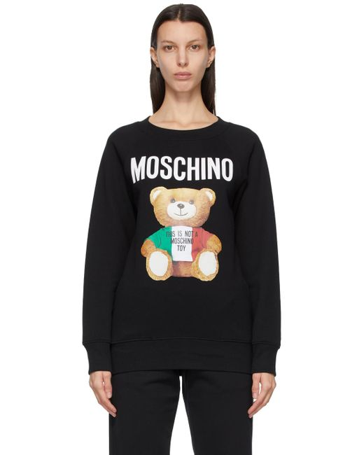 Moschino ブラック Italian Teddy Bear スウェットシャツ Black