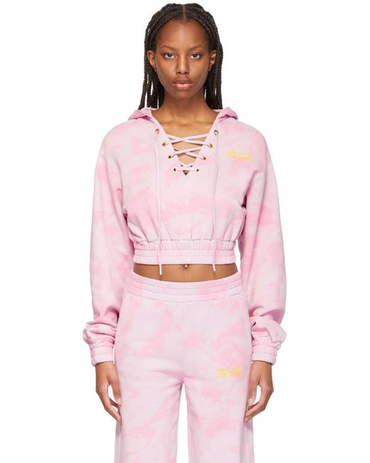 Versace Jeans ピンク タイダイ フーディ Pink