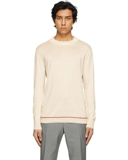 メンズ Maison Margiela ベージュ モックネック セーター Natural