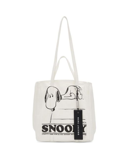 Marc Jacobs Peanuts Edition ホワイト The Tag トート White