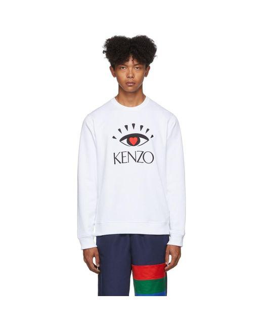 メンズ KENZO 限定エディション ホワイト Cupid スウェットシャツ White