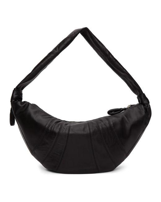 メンズ Lemaire ブラック ラージ ラムスキン クロワッサン バッグ Black