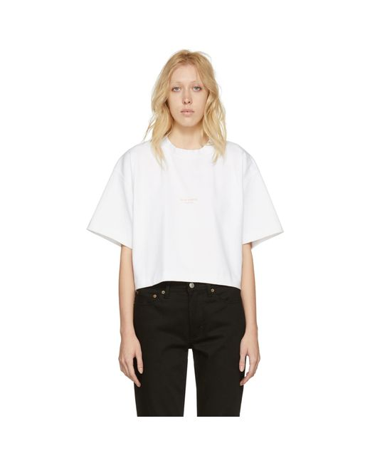 Acne | White Cylea T-shirt | Lyst