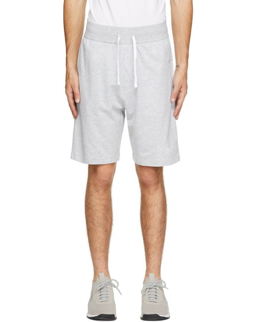 BOSS by Hugo Boss Gray Grey Authentic Lounge Shorts for men
