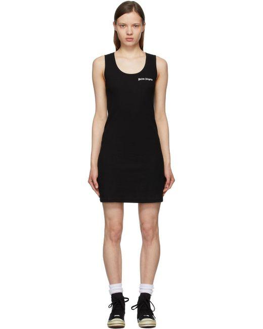 Palm Angels ブラック ロゴ タンク ドレス Black