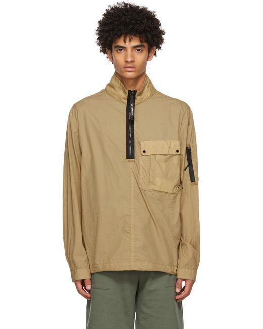 メンズ C P Company ベージュ Taylon L オーバーシャツ Natural