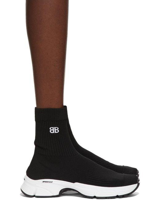 Balenciaga ブラック & ホワイト Speed 3.0 スニーカー Black