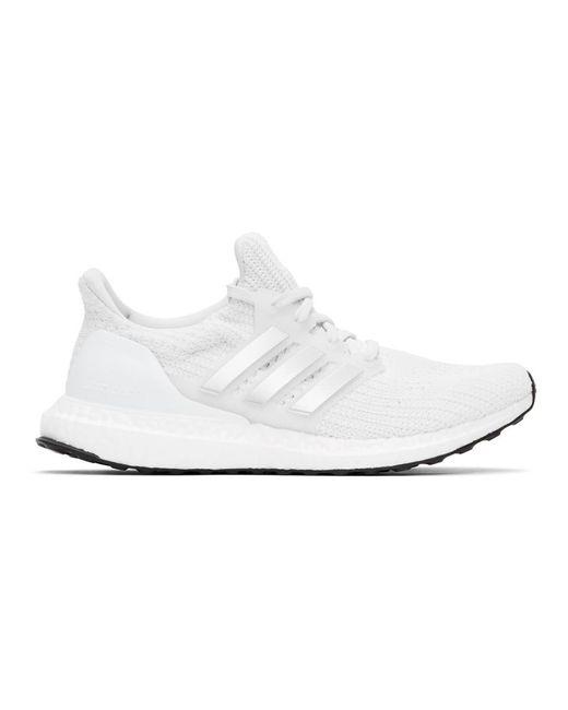 メンズ Adidas Originals ホワイト And シルバー Ultraboost 4.0 Dna スニーカー White