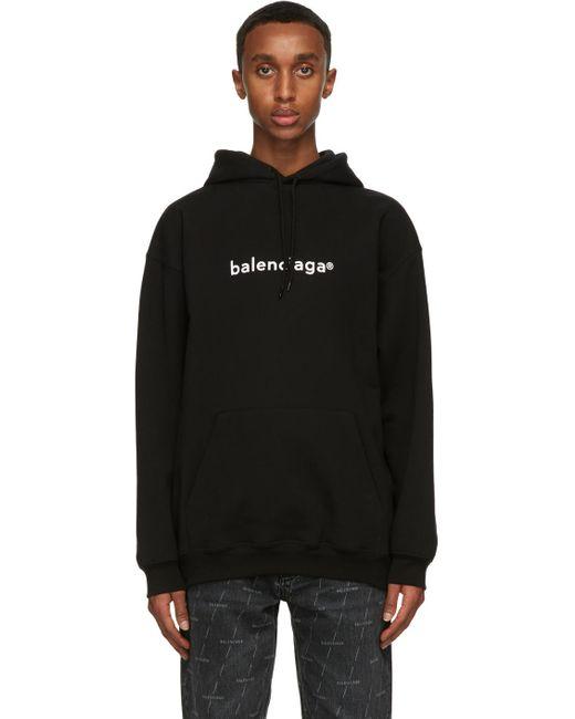 Balenciaga Copyright Logo Hoodie Black for men