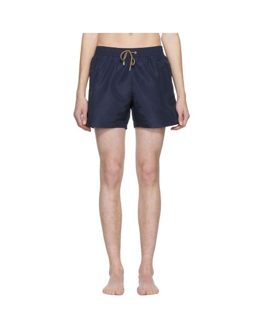 Paul Smith - Blue Navy Classic Solid Swim Shorts for Men - Lyst