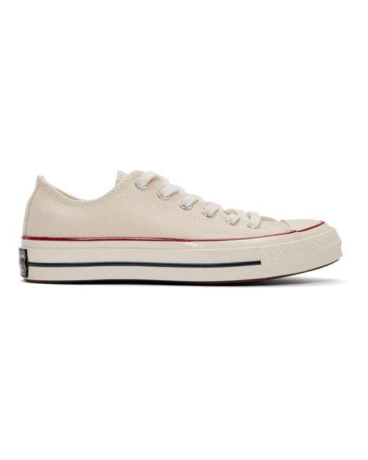 Converse オフホワイト Chuck 70 ロー スニーカー White