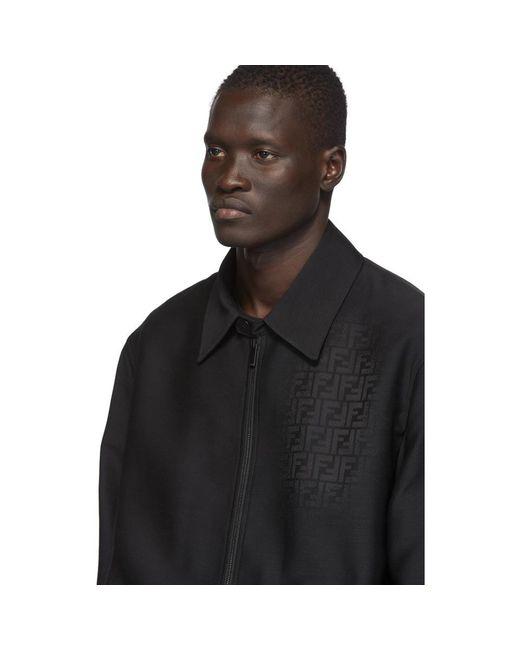 メンズ Fendi ブラック Forever シャツ ジャケット Black