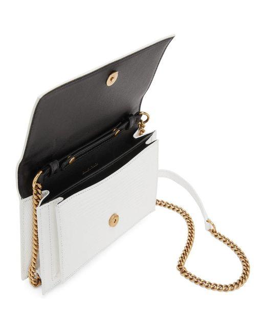 Balenciaga ホワイト リザード Sharp Chain ショルダー バッグ White
