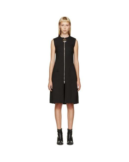 Thomas Tait - Black Angled Pleat Dress - Lyst