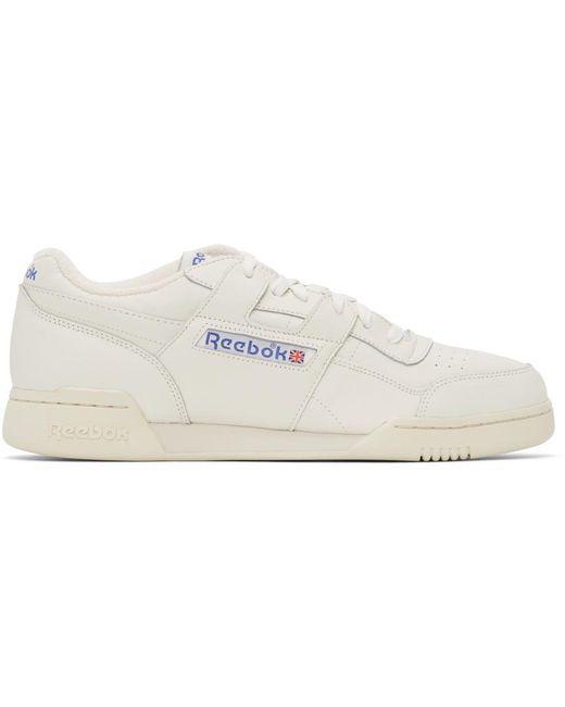 メンズ Reebok オフホワイト Workout Plus 1987 Tv スニーカー White