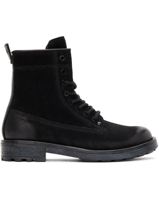 メンズ DIESEL ブラック D-throuper Dbb Zc ブーツ Black