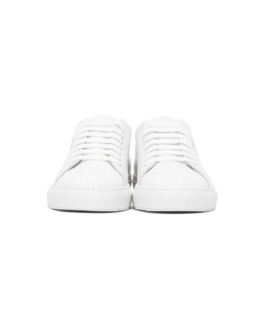 メンズ Axel Arigato ホワイト And ブラック Taped Bird Clean 90 スニーカー White
