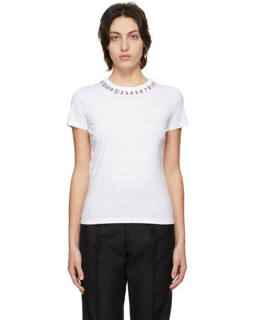 Maison Margiela ホワイト Numbers T シャツ White