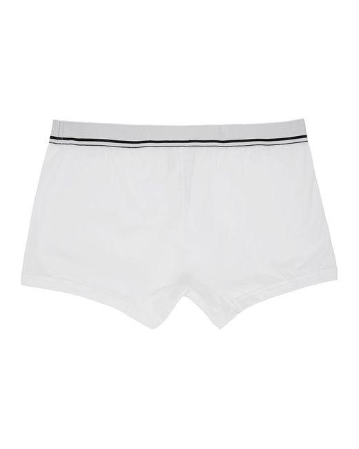 メンズ Dolce & Gabbana ホワイト Dna レギュラー ボクサー White