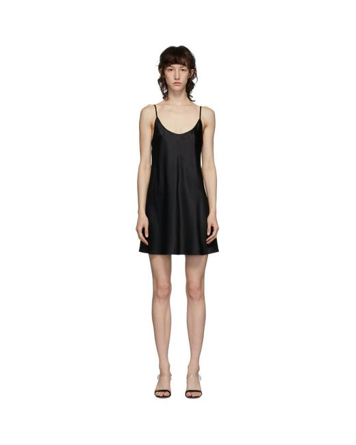 La Perla ブラック シルク スリップ ドレス Black