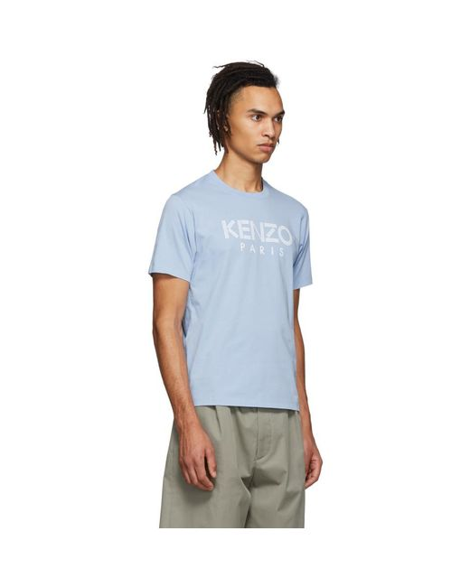 8a9579ce7 ... KENZO - Blue Classic Logo T-shirt for Men - Lyst ...