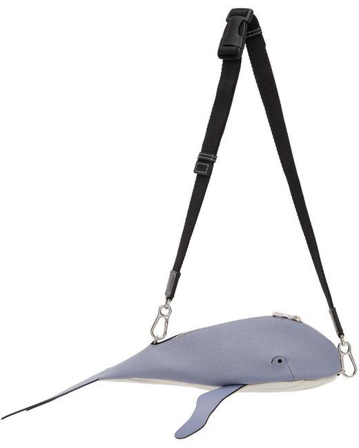 メンズ Loewe ブルー Whale バム バッグ Blue
