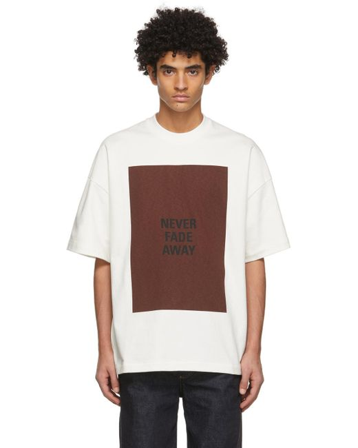 メンズ Jil Sander オフホワイト Never Fade Away T シャツ White