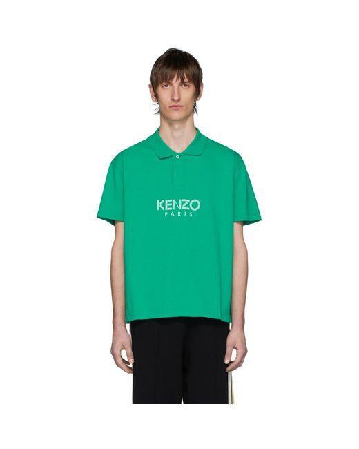 メンズ KENZO グリーン Paris ポロ Green