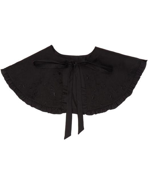 Renli Su ブラック シルク カラー Black