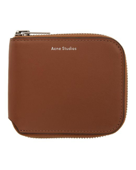 Acne ブラウン Kei コンパクト ウォレット Brown
