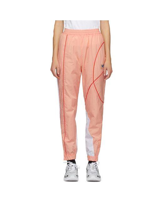 Martine Rose Ssense 限定 ピンク ツイスト トラック パンツ Pink