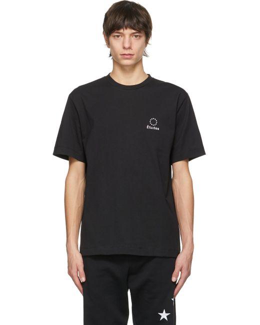 メンズ Etudes Studio ブラック Wonder ロゴ T シャツ Black