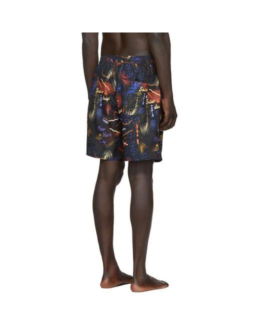 Saturdays Nyc Men's Black Timothy Swim Shorts
