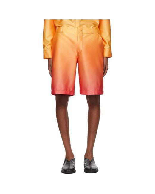 メンズ Sies Marjan オレンジ デグラデ Sterling ショーツ Orange