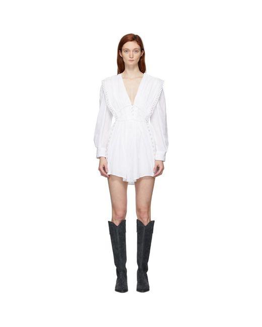 Isabel Marant ホワイト Yaxo ドレス White