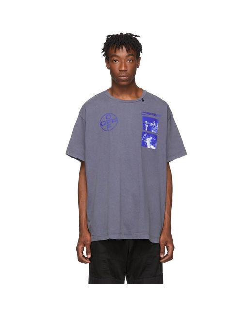 メンズ Off-White c/o Virgil Abloh インディゴ And ブルー Hardcore Caravaggio T シャツ Blue