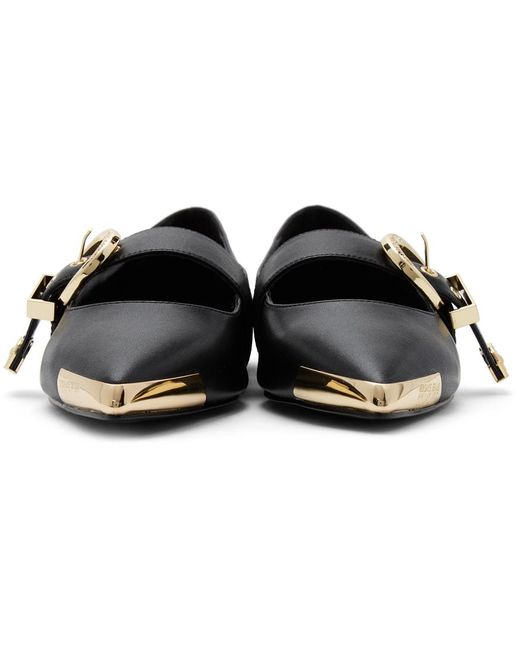 Versace Jeans ブラック Audrey フラット Black