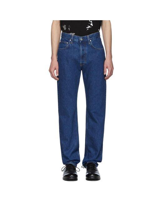 メンズ Helmut Lang ブルー Masc Hi Straight ジーンズ Blue