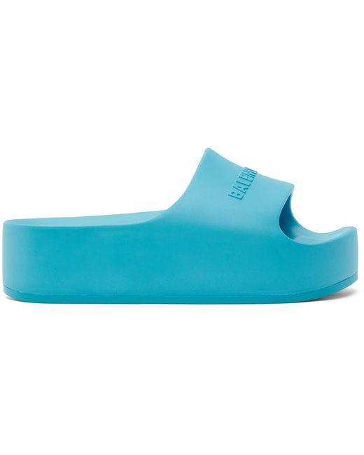 Balenciaga ブルー チャンキー スライド サンダル Blue