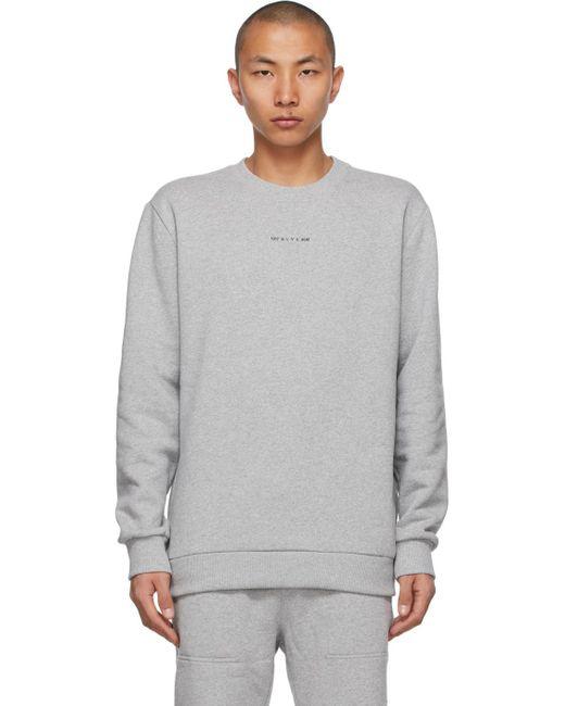 メンズ 1017 ALYX 9SM グレー Visual クルーネック スウェットシャツ Gray