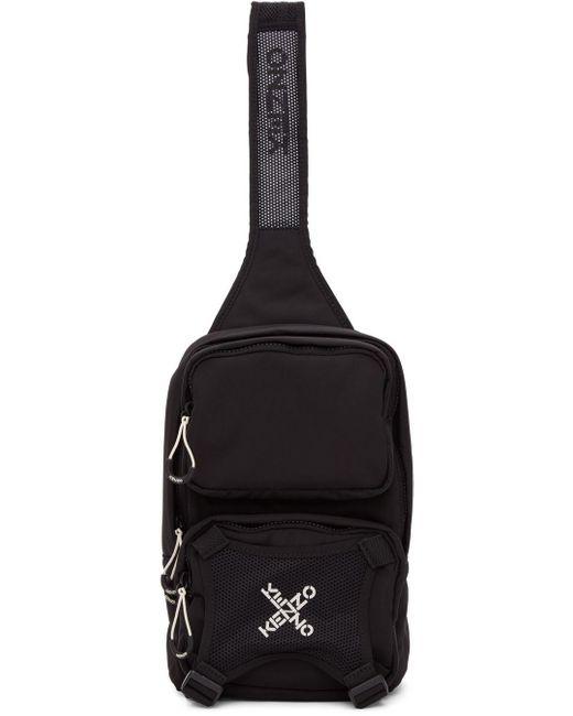 KENZO Black Single Shoulder Backpack