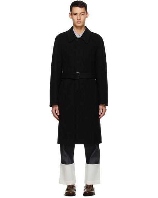 メンズ Loewe ブラック ウール & カシミア コート Black